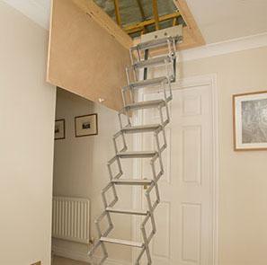 Concertina Deluxe - Aluminium Loft Ladder